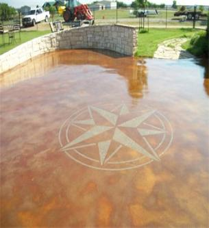 Dallas fort worth tx concrete staining sale make ugly for Acid wash concrete driveway