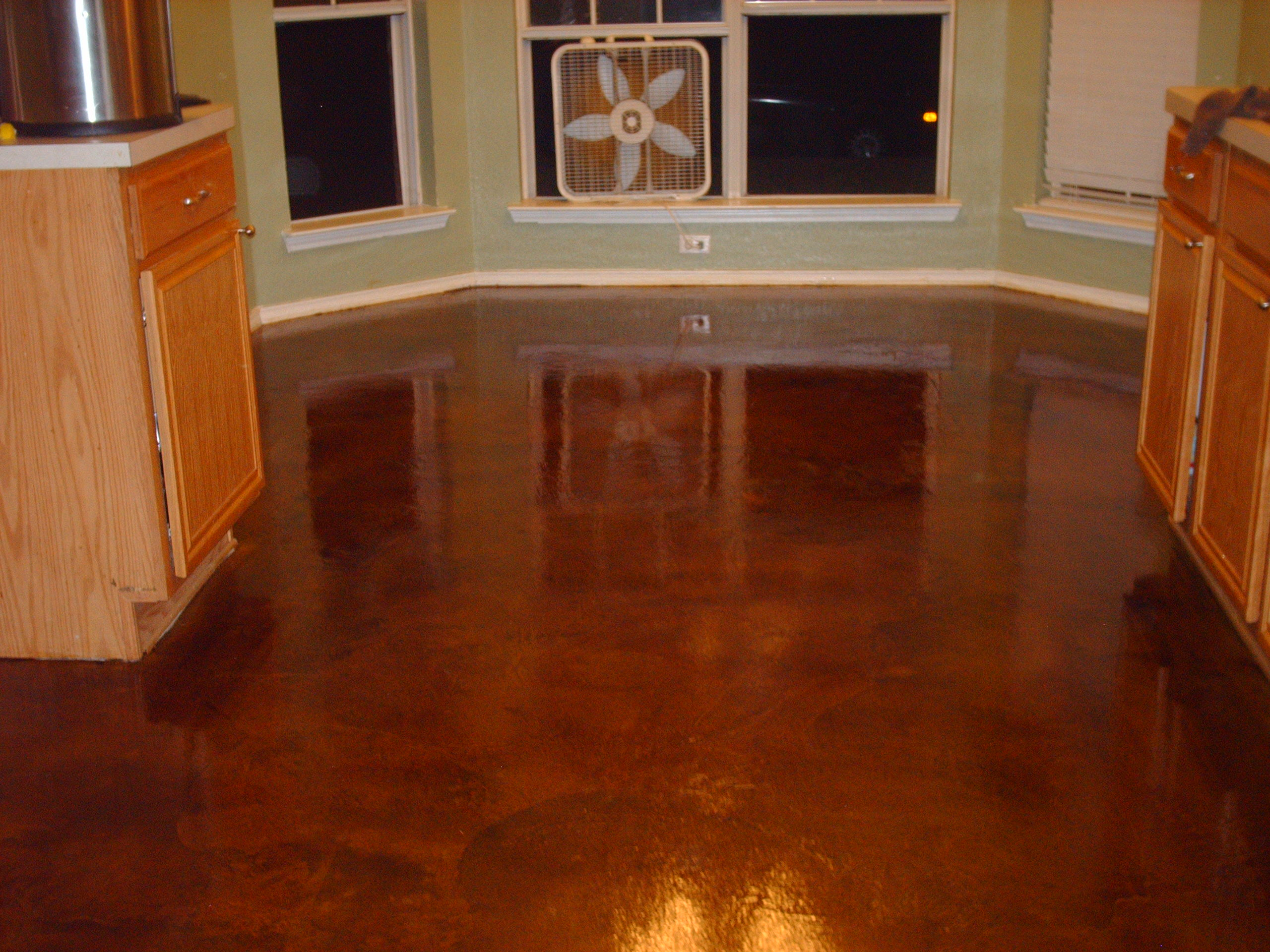 Make ugly beautifull concrete stain epoxy floors for How to care for stained concrete floors